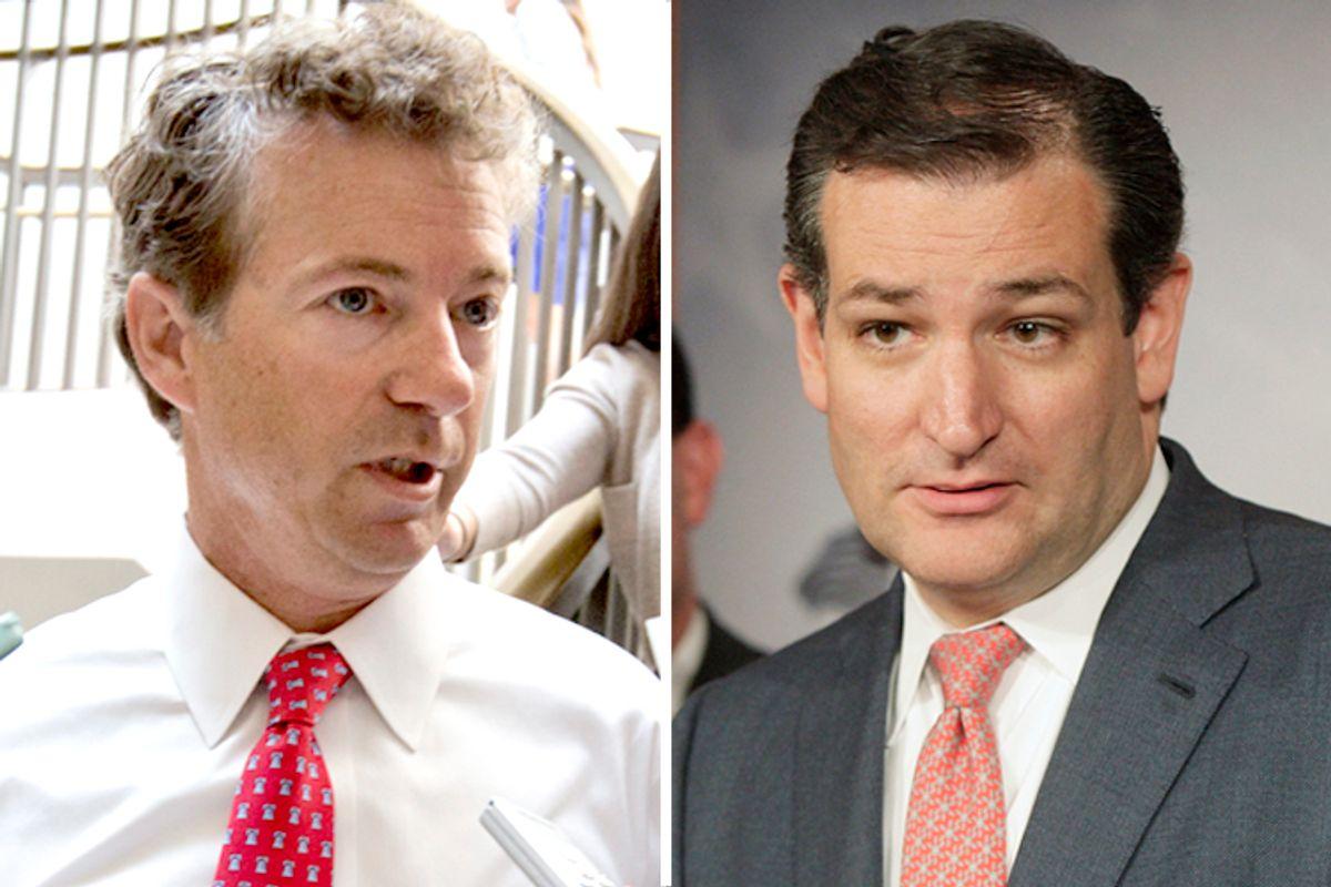 Rand Paul, Ted Cruz                                (AP/J. Scott Applewhite/Reuters/Jonathan Ernst)