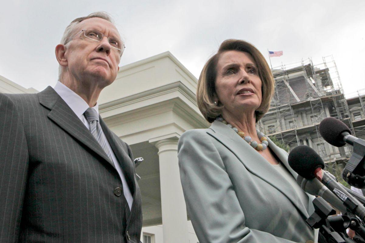 Harry Reid, Nancy Pelosi                        (AP/Pablo Martinez Monsivais)