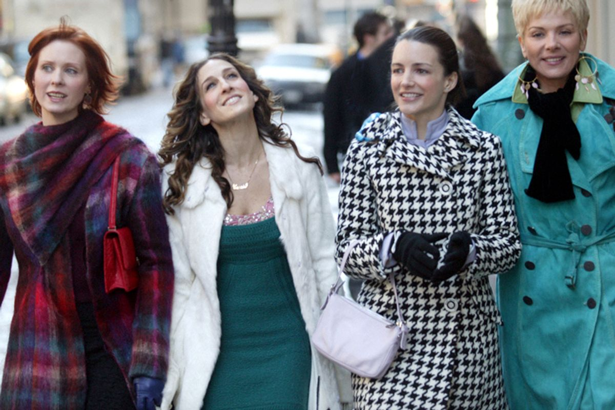 "Cynthia Nixon, Sarah Jessica Parker, Kristin Davis, Kim Cattrall in ""Sex and the City""   (HBO)"