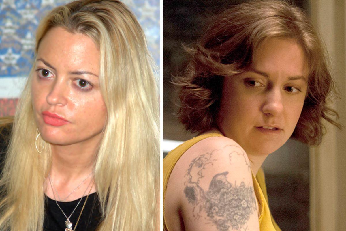 Elizabeth Wurtzel, Lena Dunham     (David Shankbone/HBO/Jessica Miglio)