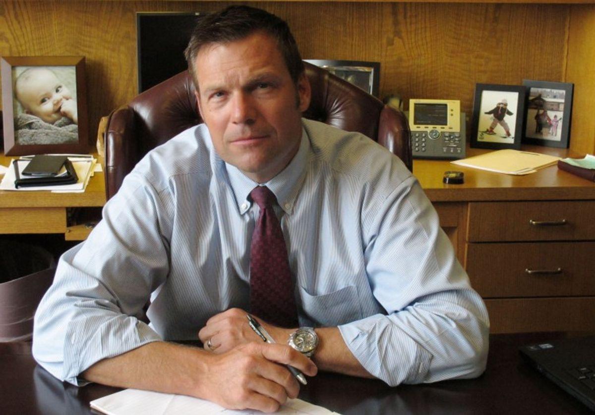 Kansas Secretary of State Kris Kobach                (AP)