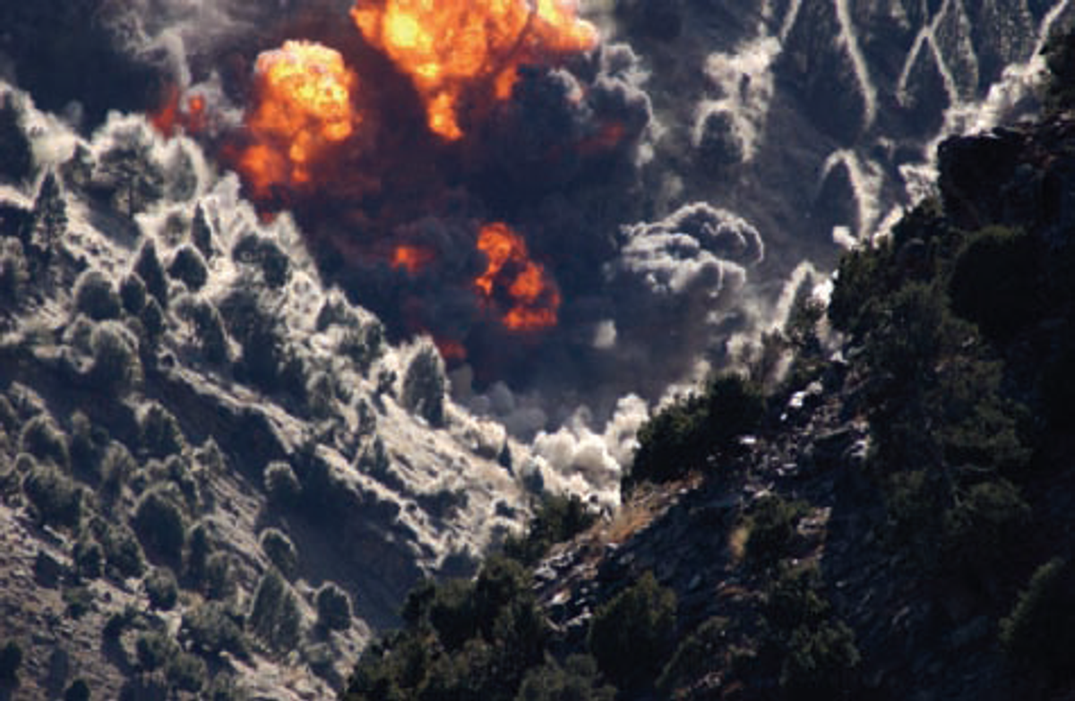 Airstrikes on Tora Bora, Afghanistan, 2001  (Wikimedia/U.S. Gov)
