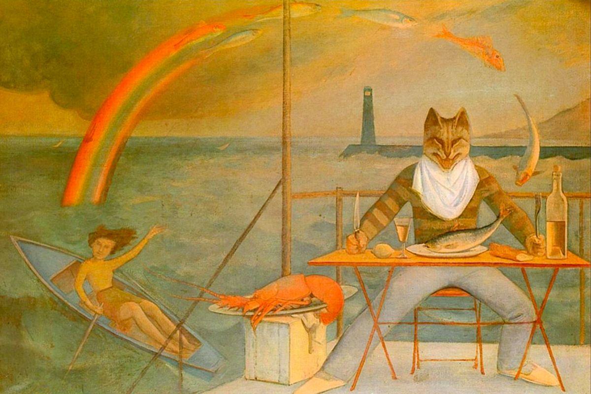 """The Mediterranean Cat"" by Balthus       (Wikimedia)"