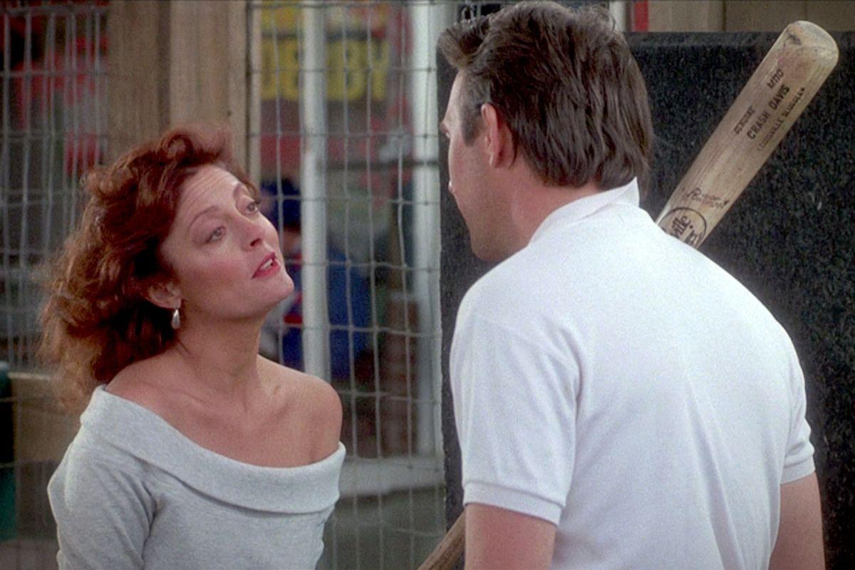 "Susan Sarandon and Kevin Costner in ""Bull Durham"""