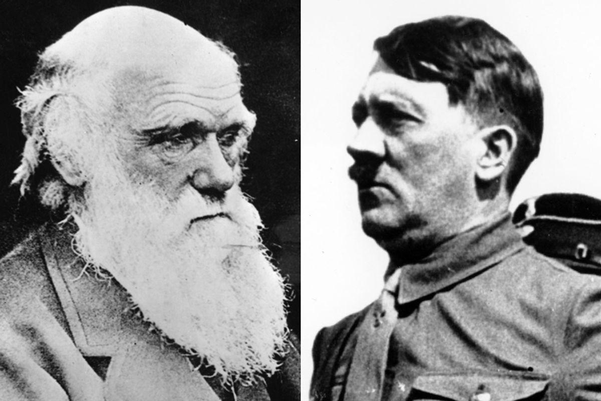 Charles Darwin, Adolf Hitler            (AP)