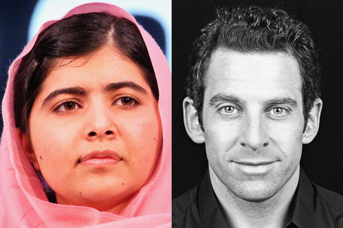 Malala Yousafzai, Sam Harris        (Reuters/Hoda Emam/AP/Sara Allen)
