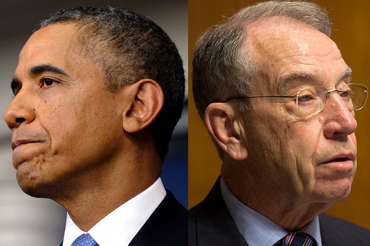 Barack Obama, Chuck Grassley               (AP/Susan Walsh/Jacquelyn Martin)