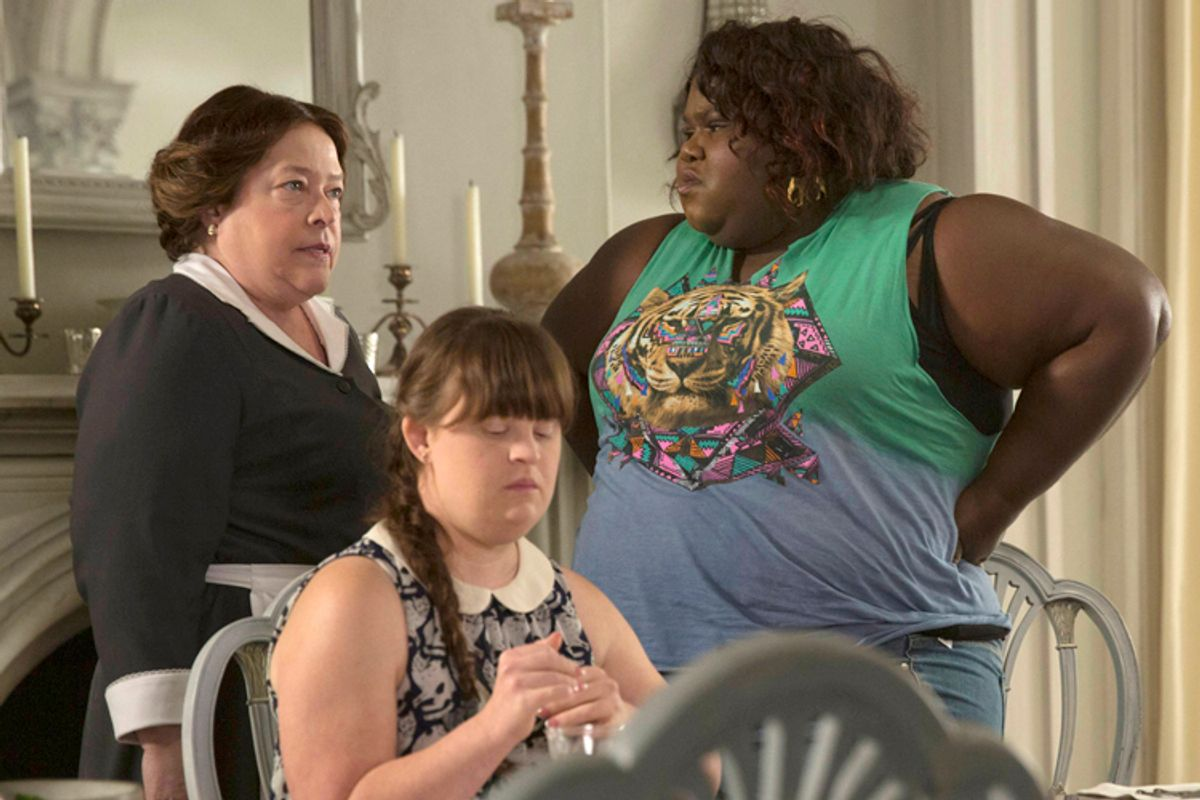 """Kathy Bates, Jamie Brewer and Gabourey Sidibe in """"American Horror Story: Coven""""        (FX/Michele K. Short)"""