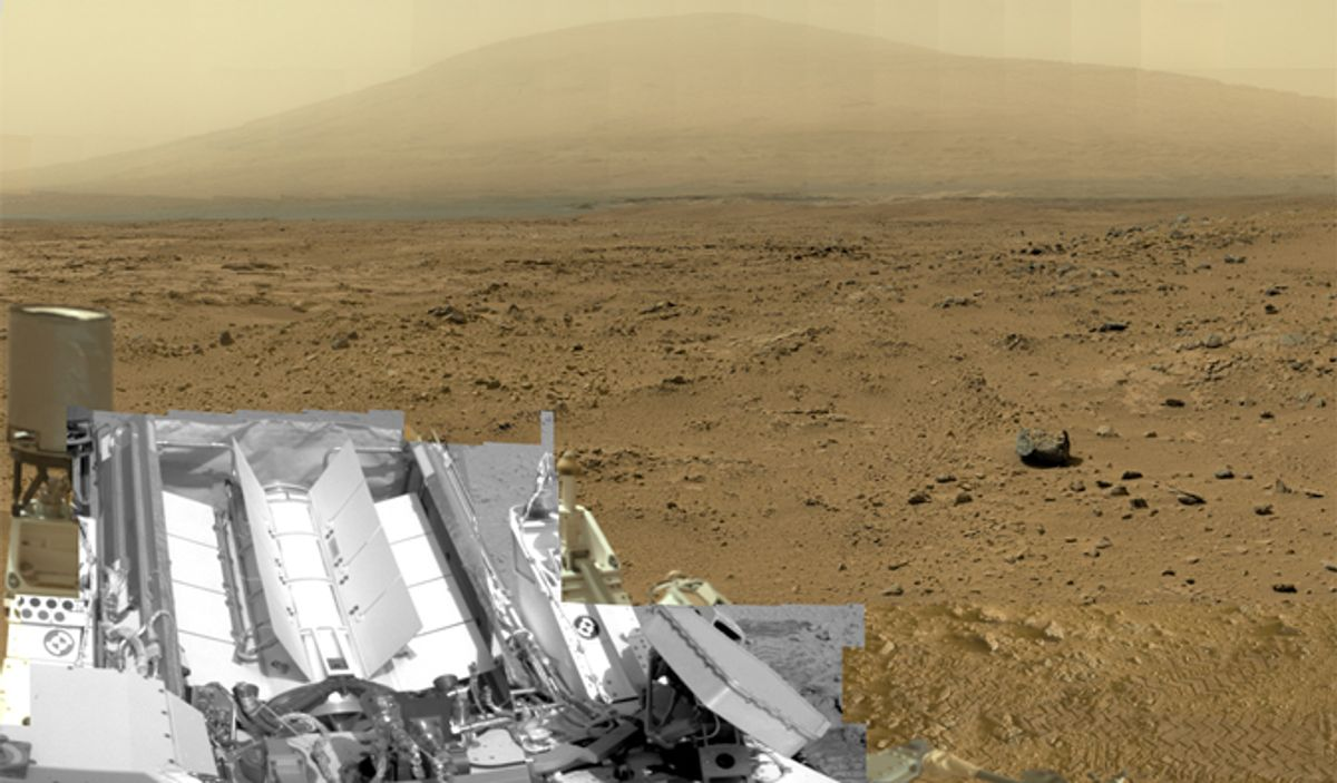 A billion-pixel view from the surface of Mars, from NASA's Mars rover Curiosity. (NASA/JPL-Caltech/MSSS)