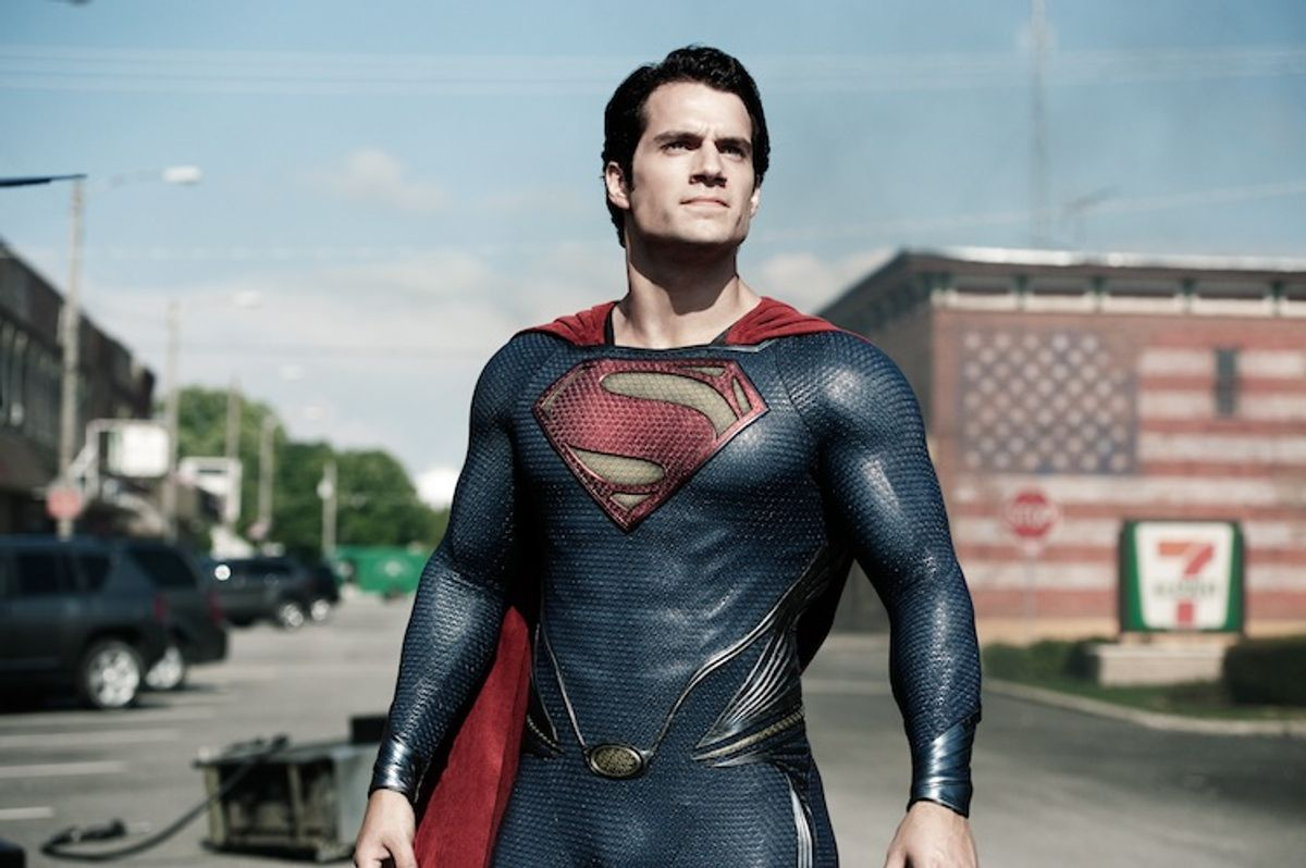 """This film publicity image released by Warner Bros. Pictures shows Henry Cavill as Superman in """"Man of Steel."""" (AP Photo/Warner Bros. Pictures, Clay Enos)   (Clay Enos)"""