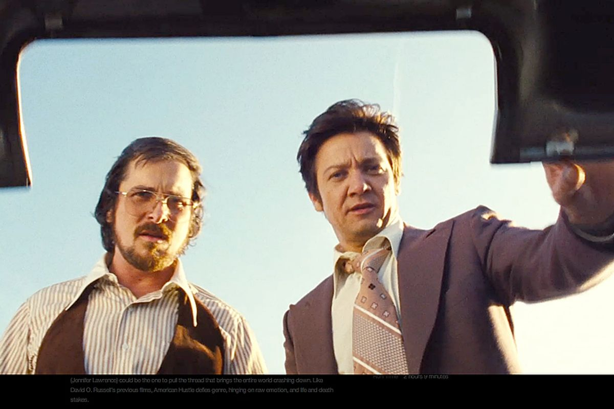 """Christian Bal and, Jeremy Renner in """"American Hustle"""""""