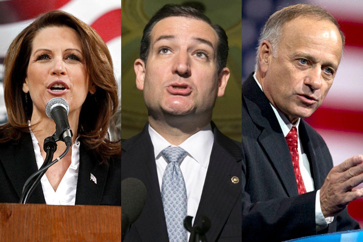 Michele Bachmann, Ted Cruz, Steve King                              (Reuters/Jeff Haynes/Kevin Lamarque/AP/Carolyn Kaster)