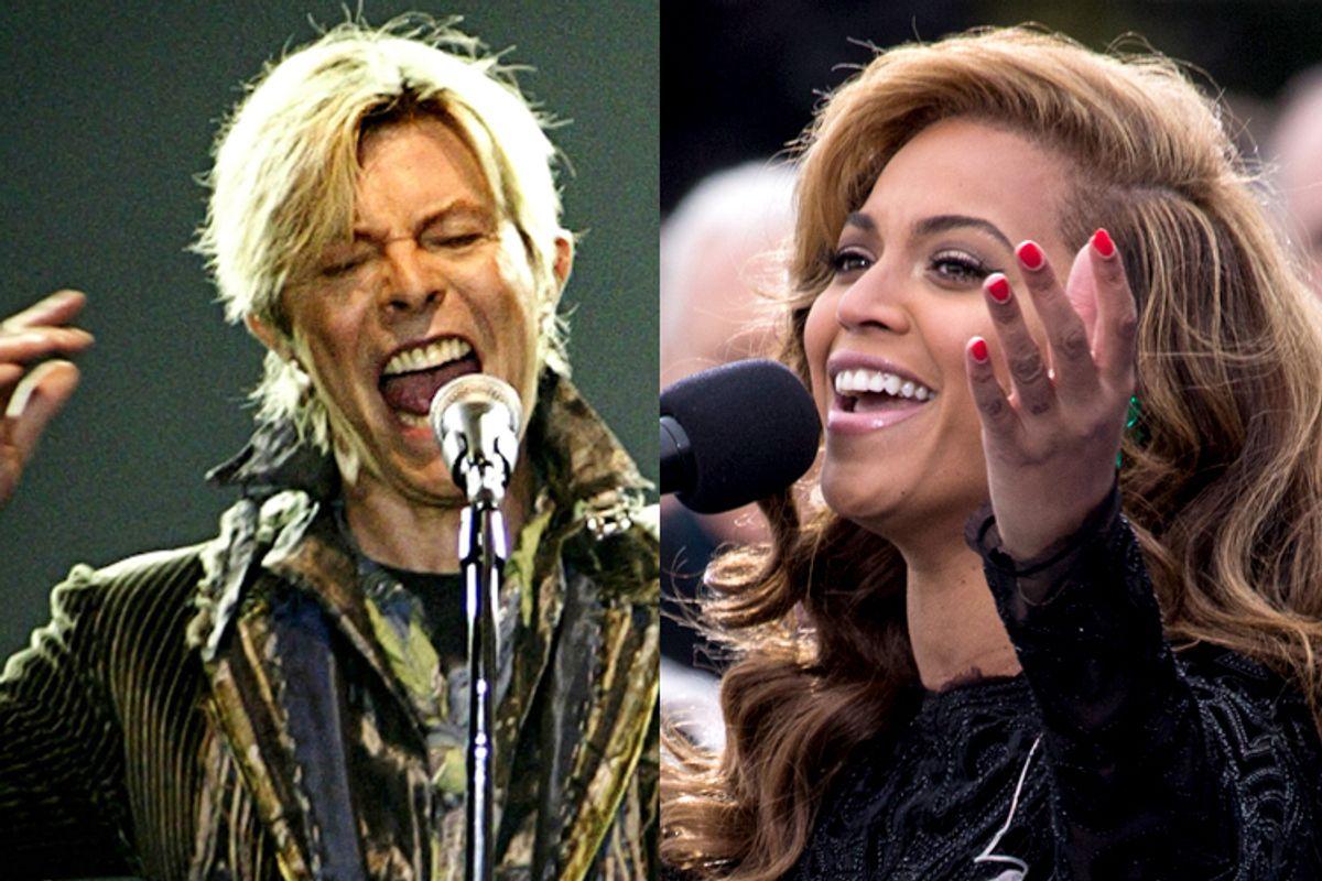 David Bowie, Beyonce          (Reuters/David W Cerny/Jeff Malet, maletphoto.com)