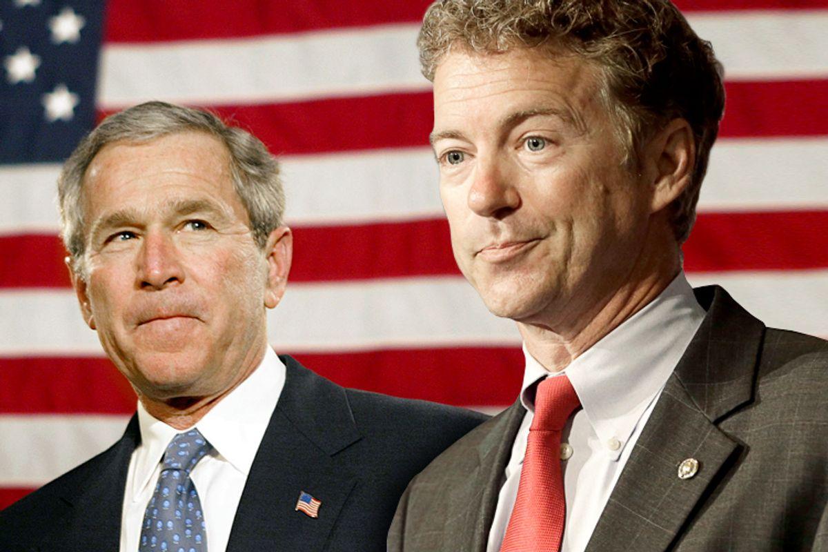 George W. Bush, Rand Paul      (AP/J. Scott Applewhite/Reed Saxon/Photo collage by Salon)