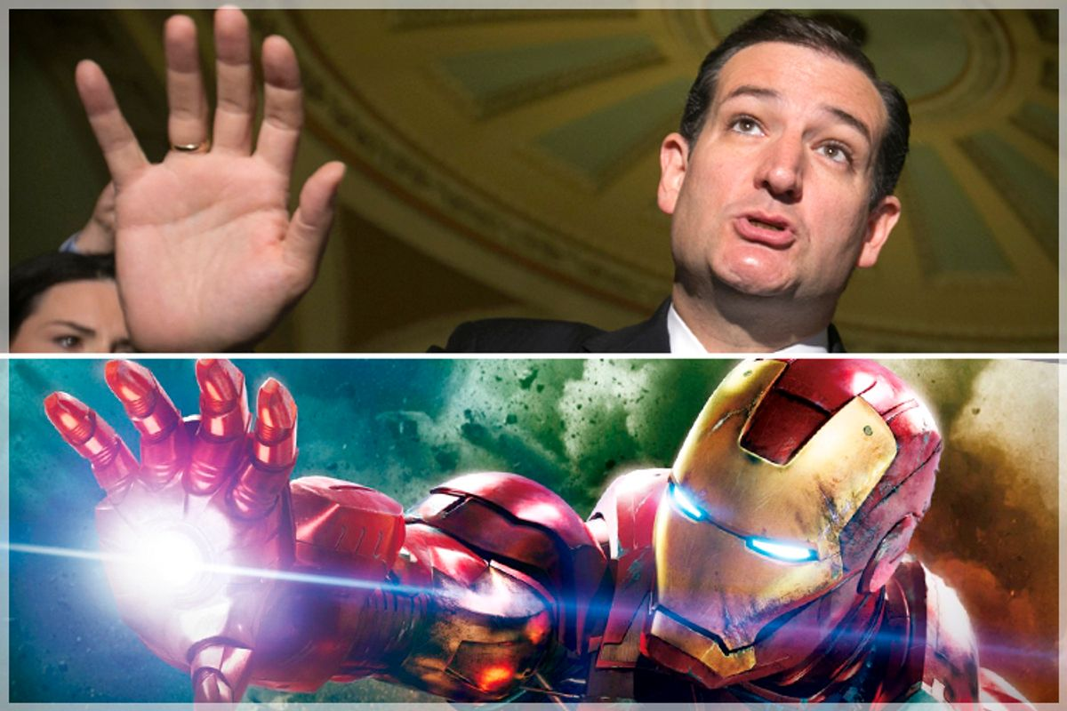 Ted Cruz, Iron Man           (Reuters/Kevin Lamarque/Marvel Studios)