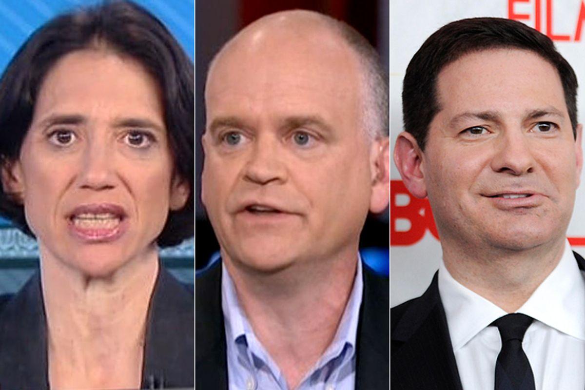 Jennifer Rubin, Ron Fournier, Mark Halperin            (MSNBC/AP/Evan Agostini)