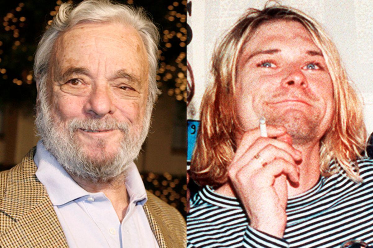 Stephen Sondheim, Kurt Cobain      (Reuters/Fred Prouser/AP/Mark J.Terrill)