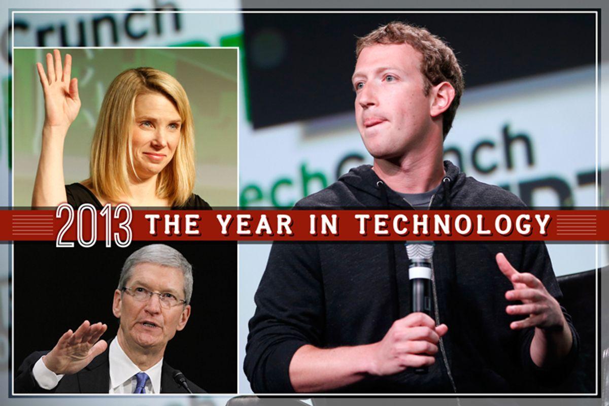 Clockwise from top left: Marissa Mayer, Mark Zuckerberg, Tim Cook    (Reuters/Stephen Lam/Jason Reed/Salon)
