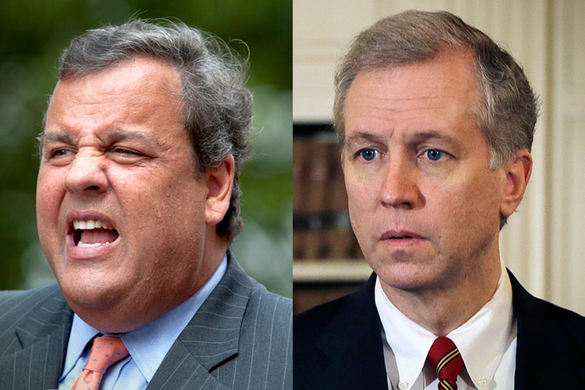 Gov. Chris Christie, Assemblyman John S. Wisniewski                       (AP/Carlo Allegri/Mel Evans)