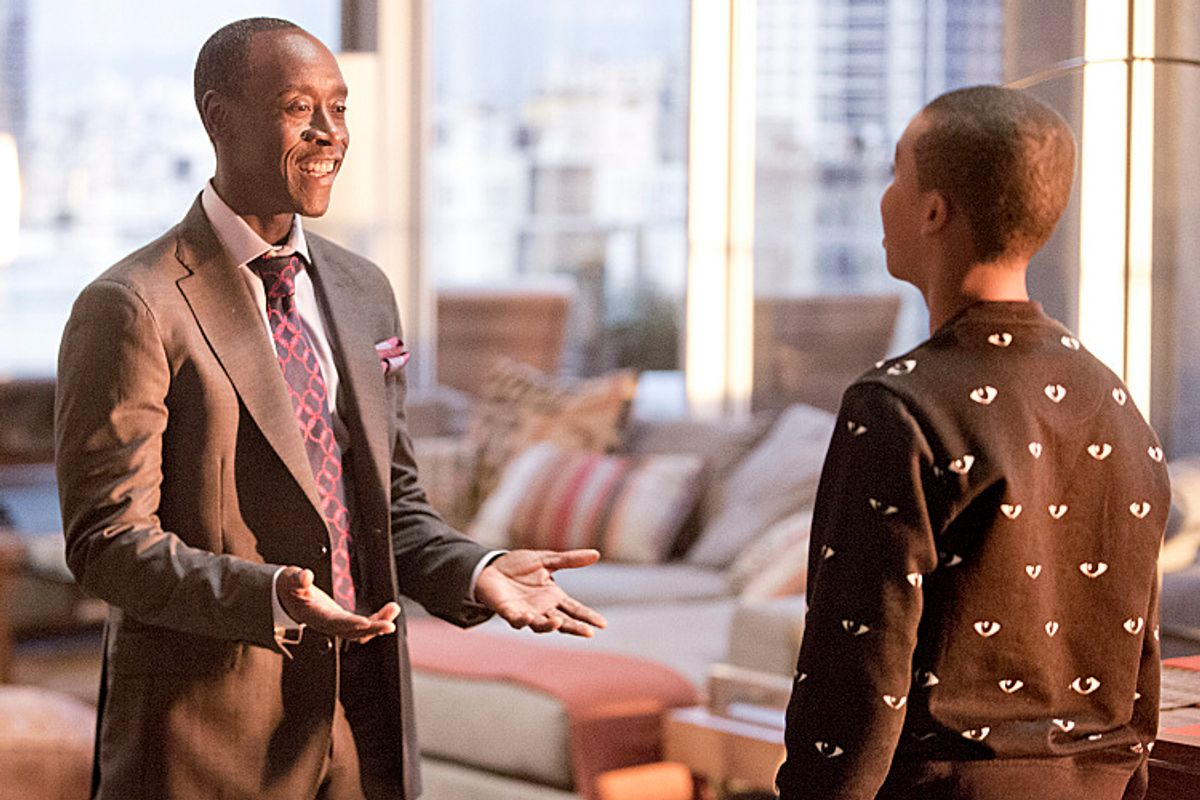 """Don Cheadle and Donis Leonard, Jr. in """"House of Lies""""       (Showtime/Michael Desmond)"""