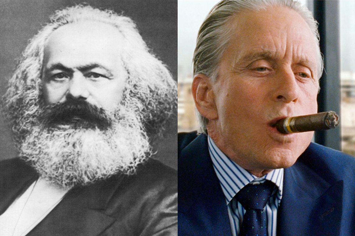 Karl Marx, Gordon Gecko