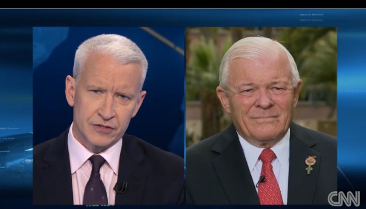 Anderson Cooper and Arizona state Sen. Al Melvin      (CNN)