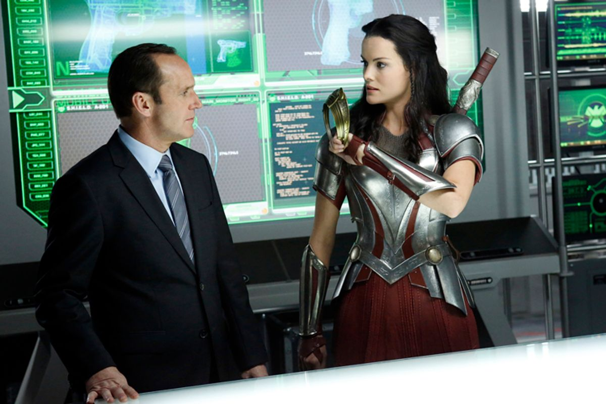 """Clark Gregg as Phil Coulson, Jaimie Alexander as Lady Sif, in """"Marvel's Agents of S.H.I.E.L.D.""""     (ABC/Kelsey Mcneal)"""