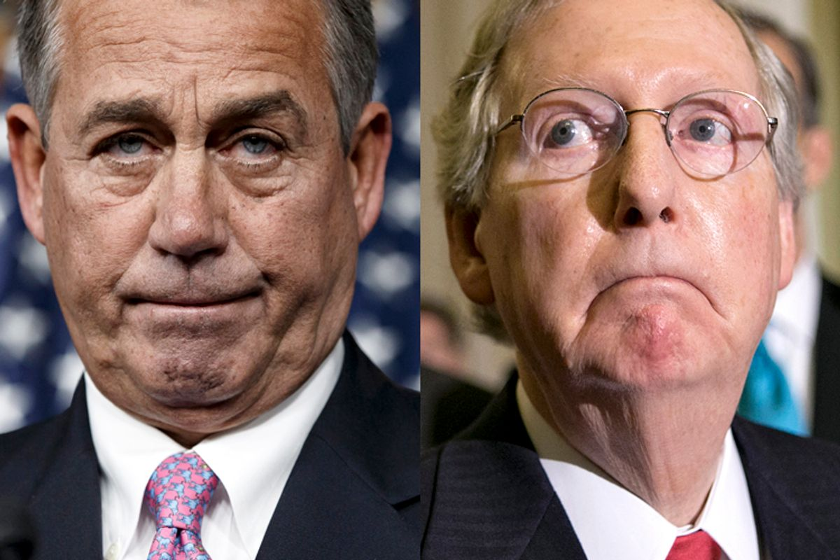 John Boehner, Mitch McConnell                                                            (AP/J. Scott Applewhite)
