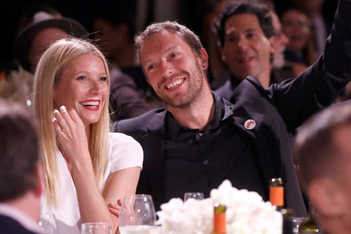 Gwyneth Paltrow and Chris Martin           (AP/Colin Young-wolff)