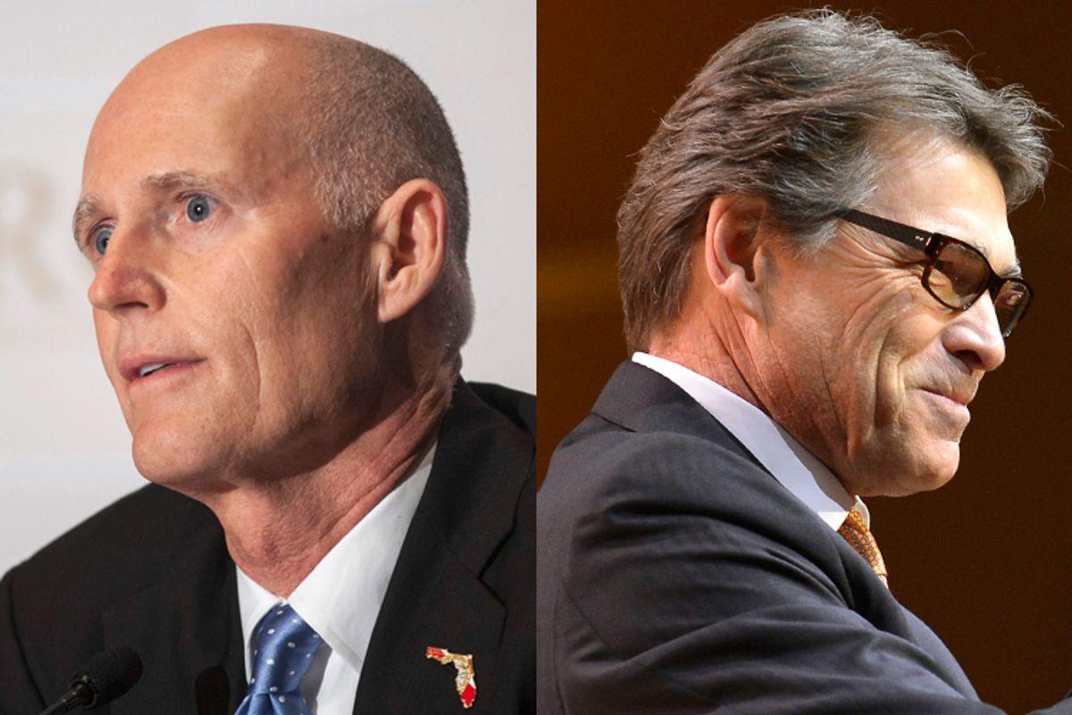 Rick Scott, Rick Perry           (Reuters/Samantha Sais/Mike Theiler)
