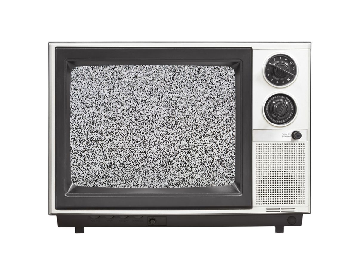 (<a href='http://www.shutterstock.com/gallery-306199p1.html?searchterm=television%20set%20static'>  trekandshoot </a> via <a href='http://www.shutterstock.com/'>Shutterstock</a>)