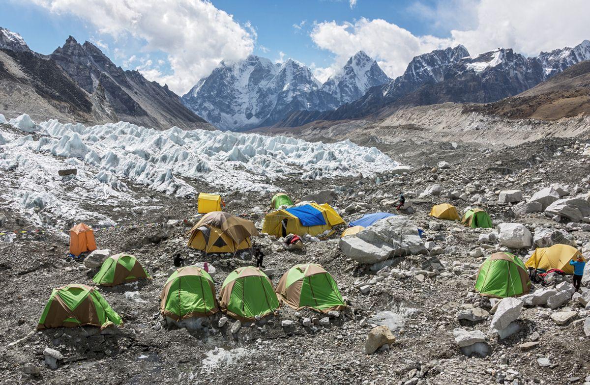 Tents on the Khumbu glacier near Everest Base Camp    (Vadim Petrakov/Shutterstock)