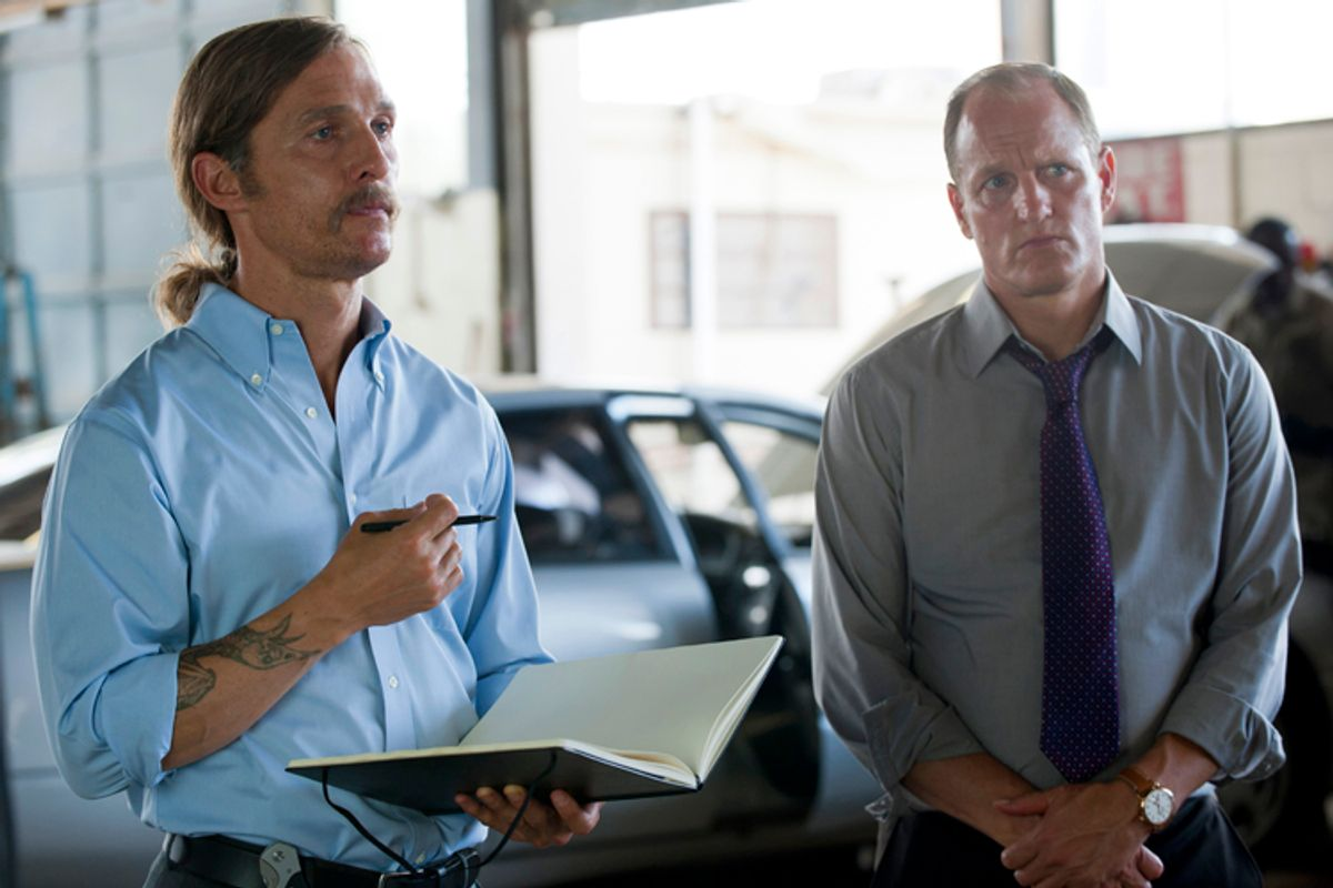 """Matthew McConaughey and Woody Harrelson in """"True Detective""""               (HBO/Lacey Terrell)"""