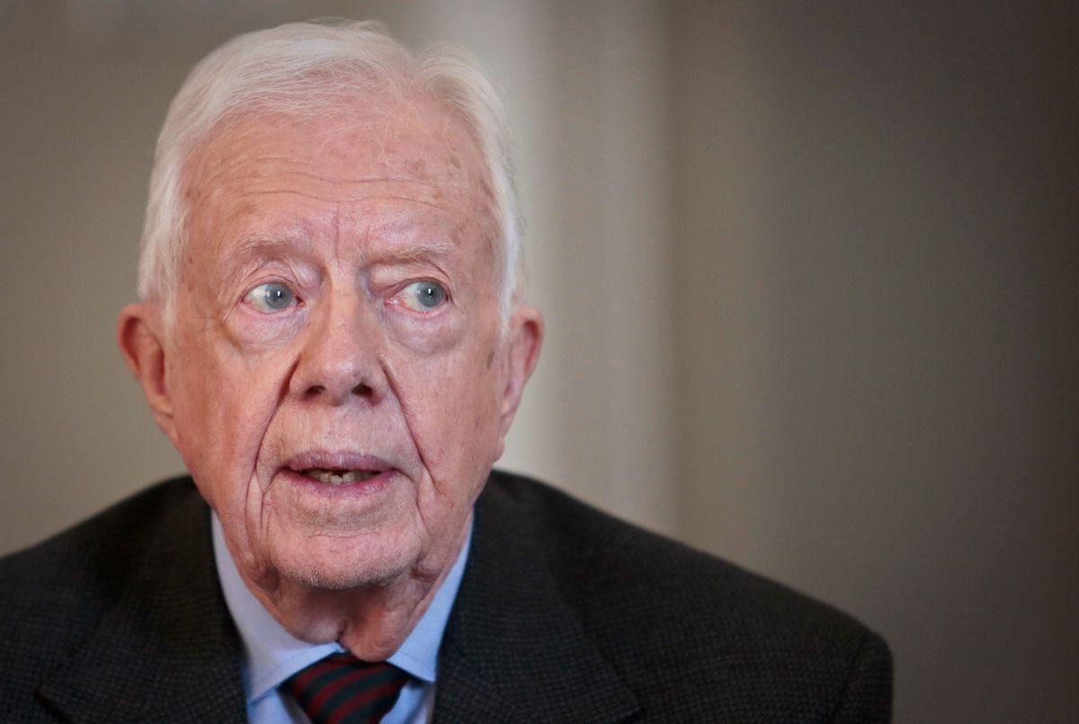 Former U.S. President Jimmy Carter  speaks during an interview on Monday March 24, 2014 in New York.  (AP Photo/Bebeto Matthews)  (AP)