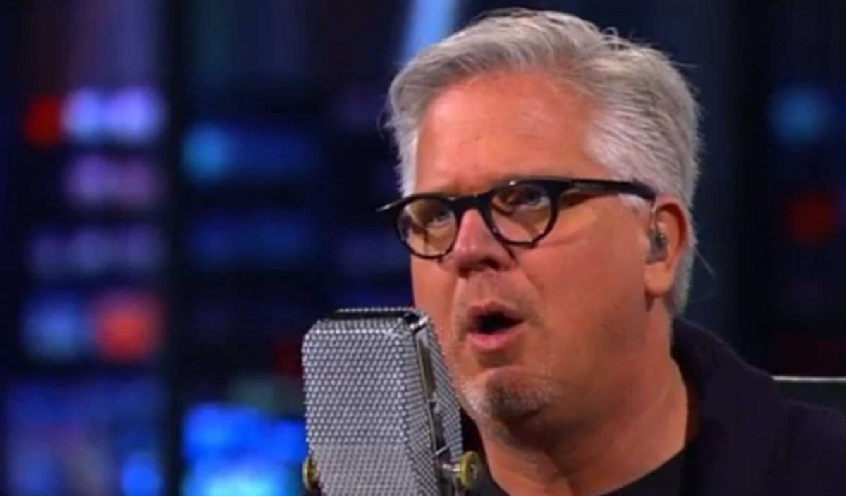 Glenn Beck, freaking out  (Screen shot, Right Wing Watch)