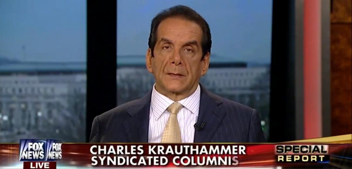 Charles Krauthammer           (Screen shot, Fox News)
