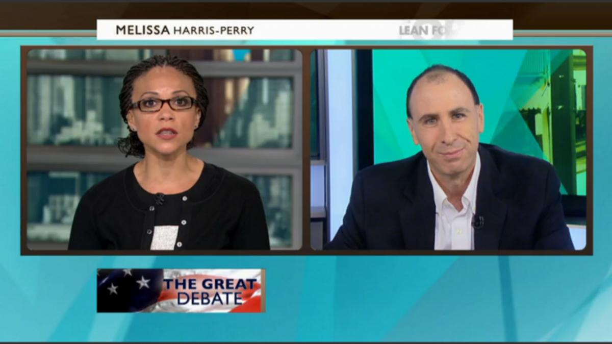 Melissa Harris-Perry and Jonathan Chait     (Screen shot, MSNBC)