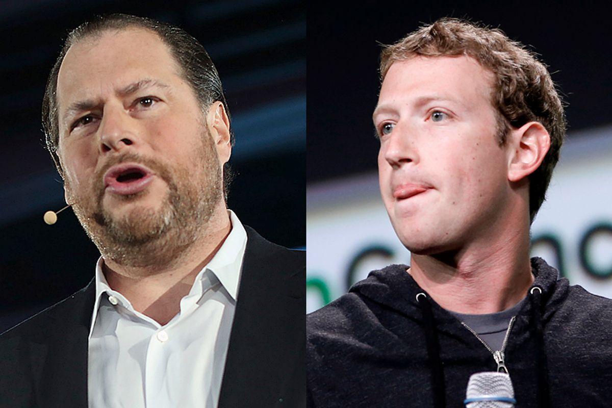 Marc Benioff, Mark Zuckerberg            (Reuters/Robert Galbraith/Reuters/Stephen Lam)