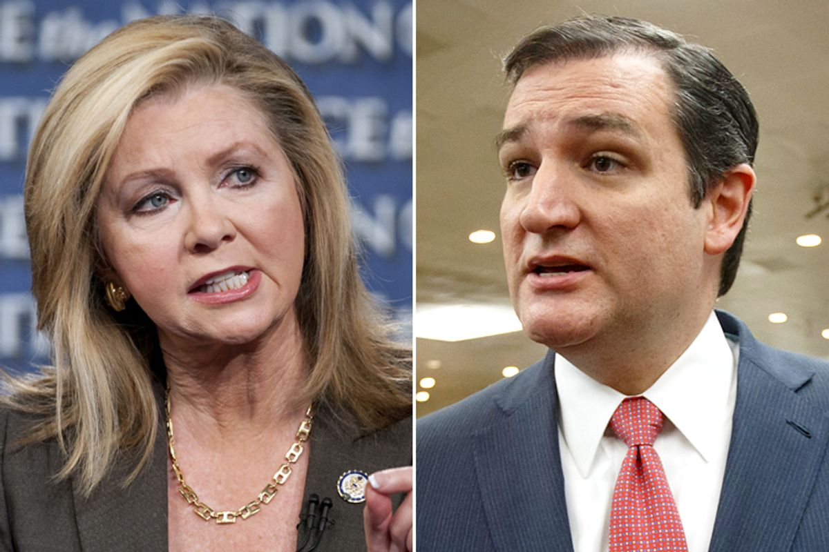 Marsha Blackburn, Ted Cruz                              (AP/Chris Usher/J. Scott Applewhite)