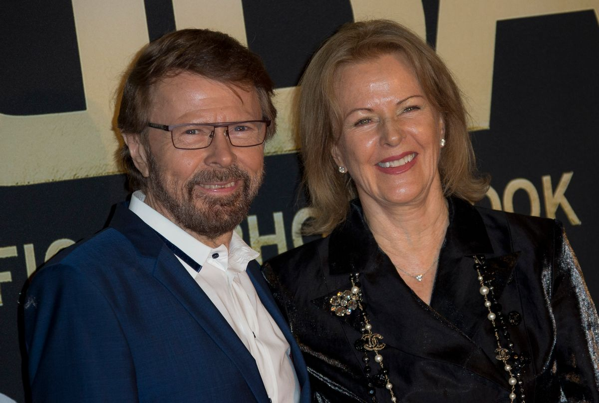 Swedish singer's Bjorn Ulvaeus, left, and Anni-Frid Lyngstad, of the pop group ABBA, pose on the red carpet ahead of the band's International anniversary party at the Tate Modern in central London, Monday, April 7, 2014. The event marks the launch of ABBA – The Official Photo Book, the first ever authorised photographic biography of the band. (Photo by Joel Ryan/Invision/AP Images) (Joel Ryan/invision/ap Images)