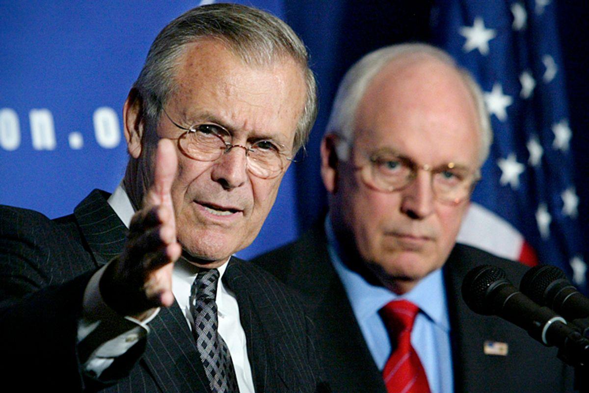 Donald Rumsfeld, Dick Cheney             (Reuters/Kevin Lamarque)