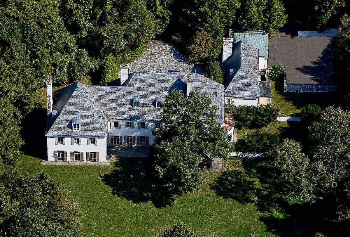 This undated photo provided by Barbara Cleary's Realty Guild shows the rear view of a 52-acre estate that sold for $14.3 million on Monday, April 14, 2014, in New Canaan, Conn. (AP Photo/Barbara Cleary's Realty Guild) (AP)