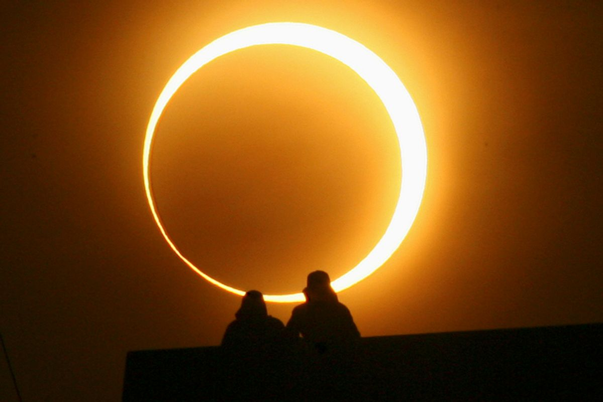 An annular solar eclipse in Zhengzhou, Henan province, January 15, 2010.         (Reuters/Donald Chan)