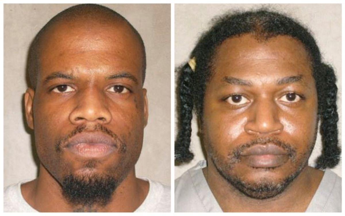 Clayton Lockett, left, and Charles Warner (AP Photo/Oklahoma Department of Corrections)
