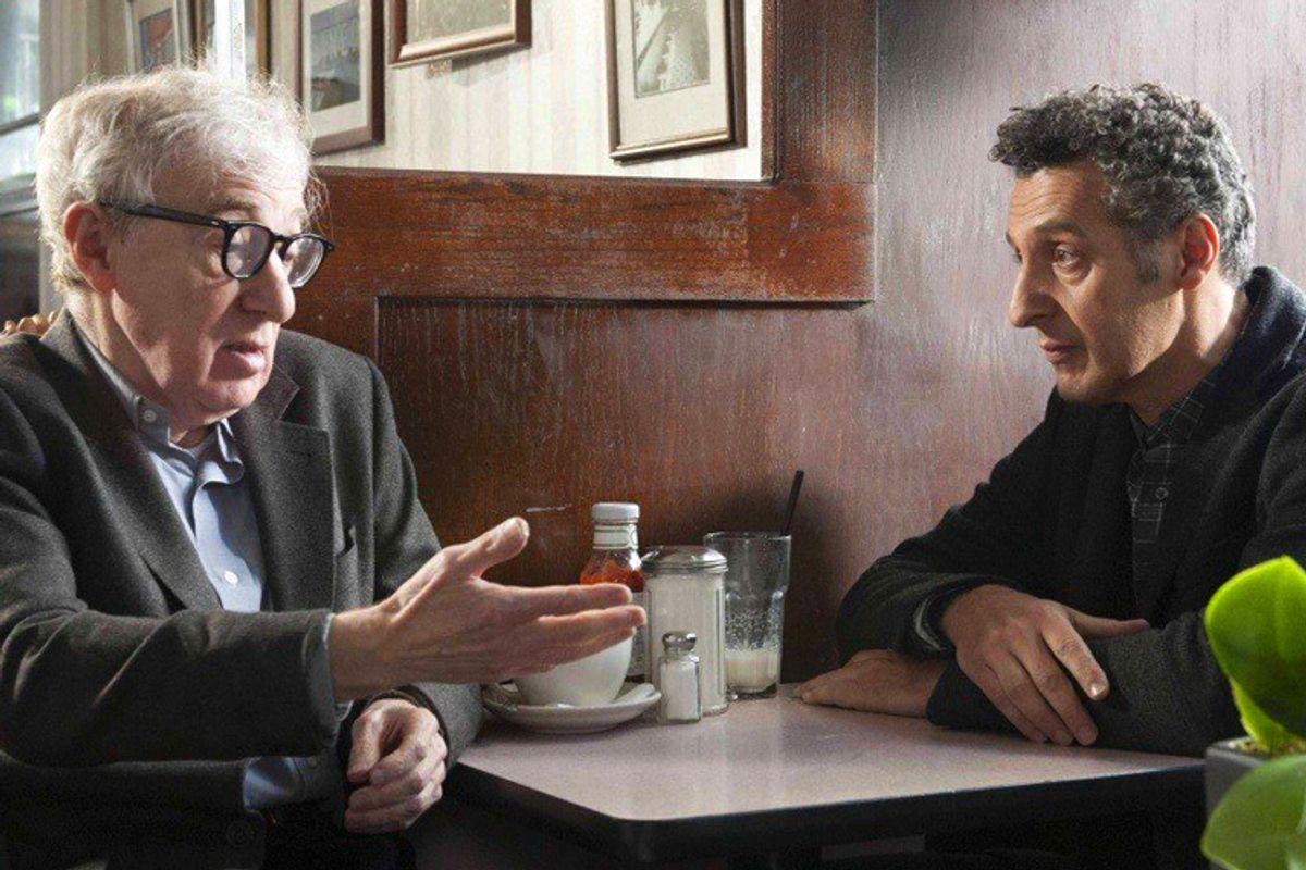 "Woody Allen and John Turturro in ""Fading Gigolo""     (AP/JoJo Whilden)"