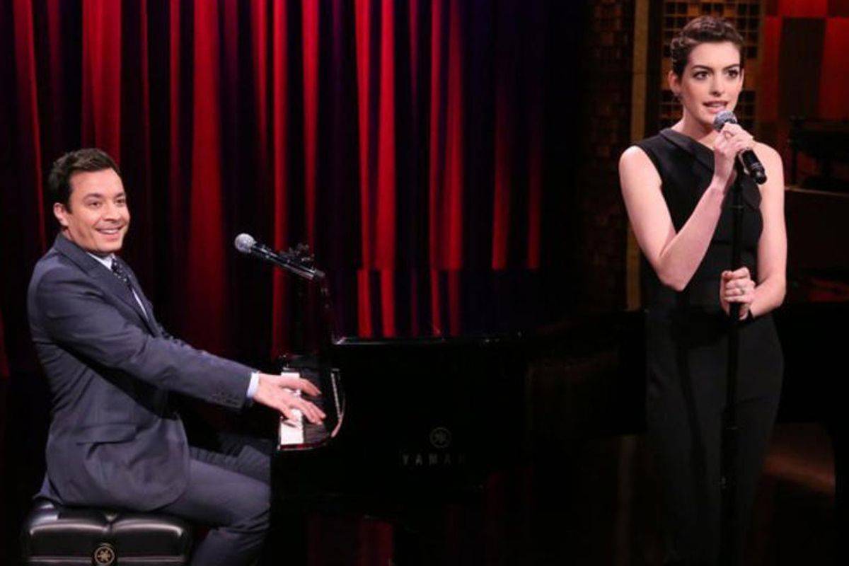 Jimmy Fallon, Anne Hathaway     (NBC)