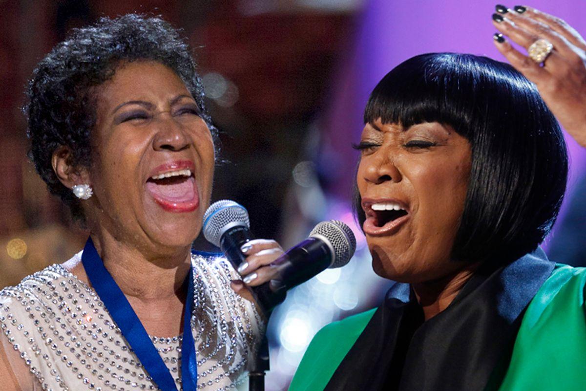 Aretha Franklin, Patti LaBelle    (Reuters/Jose Luis Magaua/Jonathan Ernst)