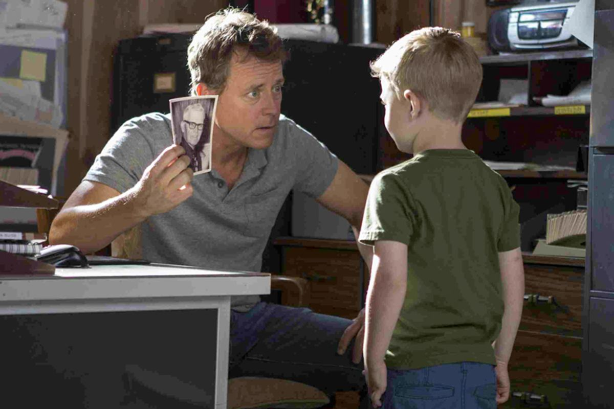 """Greg Kinnear and Connor Corum in """"Heaven Is For Real""""          (TriStar Pictures/Allen Fraser)"""