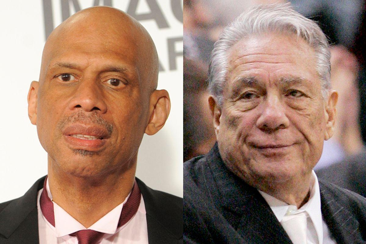 Kareem Adbul-Jabbar, Donald Sterling           (AP/Chris Pizzello/Mark J. Terrill)