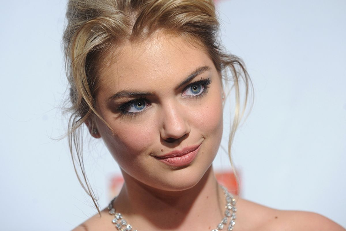 Model Kate Upton attends the 2013 Sports Illustrated Swimsuit issue launch party at Crimson on Tuesday, Feb. 12, 2013 in New York.(Photo by Brad Barket/Invision/AP)     (Brad Barket)